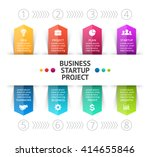 vector cycle arrows infographic ... | Shutterstock .eps vector #414655846