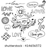 love decorative vintage... | Shutterstock .eps vector #414656572