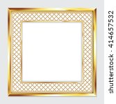 square gold frame for pictures... | Shutterstock .eps vector #414657532
