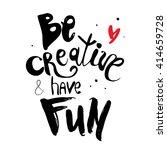 vector hand lettered...   Shutterstock .eps vector #414659728
