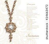 vintage jewelry gold pendant...   Shutterstock .eps vector #414663472