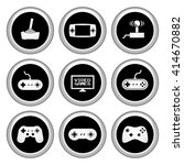 video game icons silver icon... | Shutterstock . vector #414670882