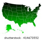map of usa | Shutterstock .eps vector #414673552