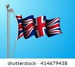 United Kingdom Flag On Mast