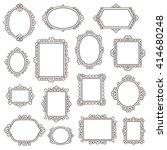 set of small vintage frames for ... | Shutterstock .eps vector #414680248