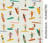 surfing illustration in vector. ... | Shutterstock .eps vector #414680782