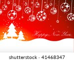christmas background. vector. | Shutterstock .eps vector #41468347