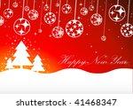 christmas background. vector. | Shutterstock .eps vector #41468347