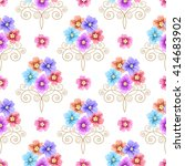 seamless pattern with flowers... | Shutterstock . vector #414683902
