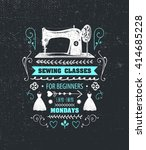 Vector Sewing Classes Poster ...