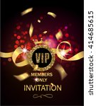 vip invitation card with gold... | Shutterstock .eps vector #414685615