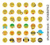 emoji emoticons. smiley face... | Shutterstock .eps vector #414686962