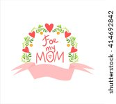 mothers day greeting cards... | Shutterstock .eps vector #414692842