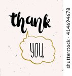 hand lettering  calligraphy...   Shutterstock .eps vector #414694678
