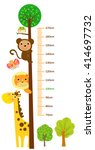 the child's height illustrations | Shutterstock .eps vector #414697732