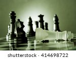 chess game   chess king is... | Shutterstock . vector #414698722