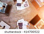 business people colleagues... | Shutterstock . vector #414700522
