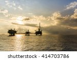 silhouette of oil rig or... | Shutterstock . vector #414703786