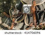 old type compass on backpack... | Shutterstock . vector #414706096