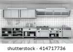 professional kitchen facade.... | Shutterstock . vector #414717736