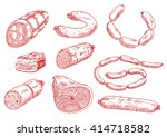 vintage sketches of smoked... | Shutterstock .eps vector #414718582