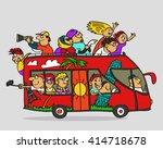 hand drawn. vector illustration.... | Shutterstock .eps vector #414718678
