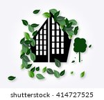 icon of the city with green... | Shutterstock .eps vector #414727525