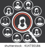 user icons and people icons... | Shutterstock .eps vector #414730186