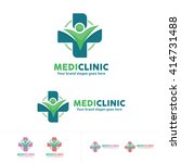 people health care logo ... | Shutterstock .eps vector #414731488