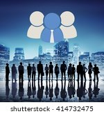 group together team cooperation ... | Shutterstock . vector #414732475