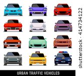 urban traffic vehicles  car... | Shutterstock .eps vector #414734122