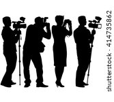 cameraman with video camera.... | Shutterstock .eps vector #414735862