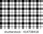 black white tartan plaid... | Shutterstock .eps vector #414738418