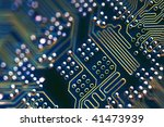 Circuit Board Connections - stock photo