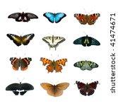big collection of butterflies... | Shutterstock . vector #41474671