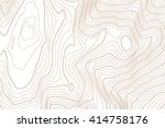 abstract topographic map.... | Shutterstock .eps vector #414758176