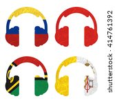 nation flag. headphone recycled ... | Shutterstock . vector #414761392