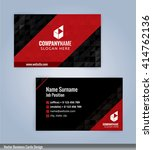 modern business card template ... | Shutterstock .eps vector #414762136