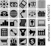 25 icon set. business icons.... | Shutterstock .eps vector #414763072