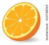 vector orange isolated on white ... | Shutterstock .eps vector #414768565