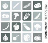 vector set of vegetables icons. ... | Shutterstock .eps vector #414773752