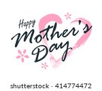 vector happy mothers day... | Shutterstock .eps vector #414774472