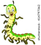 cartoon caterpillar | Shutterstock .eps vector #414797362