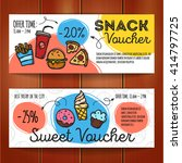 vector set of discount coupons... | Shutterstock .eps vector #414797725