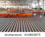 conveyor roller system for... | Shutterstock . vector #414803875