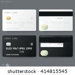 white credit card template | Shutterstock .eps vector #414815545