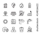 thin line ecology icon set 6 ... | Shutterstock .eps vector #414816622