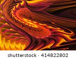 Abstract Colorful Fiery Waves...