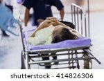 Blur Of  Moving Patient  To...