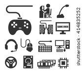 gamer icon set | Shutterstock .eps vector #414835252
